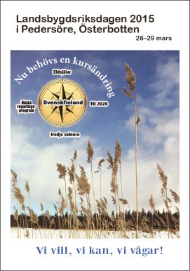 Landsbygdsriksdagen i Pedersöre 28-29.3.2015 - tidningen