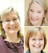 Sanna Sihvola, Laura Jänis och Hanna-Mari Kuhmonen